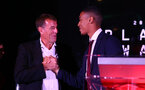 Matt Le Tissier and Yan Valery during the 2018/19 Southampton FC Player Awards night, at St Mary's Stadium, Southampton, 7th May 2019