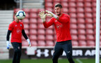 SOUTHAMPTON, ENGLAND - MAY 08: Fraser Forster during a Southampton FC open training session at St Mary's Stadium on May 08, 2019 in Southampton, England. (Photo by Matt Watson/Southampton FC via Getty Images)