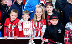 SOUTHAMPTON, ENGLAND - MAY 08: fans await players to sign Southampton merchandise during a Southampton FC open training session at St Mary's Stadium on May 08, 2019 in Southampton, England. (Photo by James Bridle - Southampton FC/Southampton FC via Getty Images)