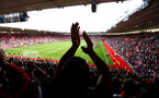SOUTHAMPTON, ENGLAND - MAY 12: fans clap the players during the lap of honor for the Premier League match between Southampton FC and Huddersfield Town at St Mary's Stadium on May 12, 2019 in Southampton, United Kingdom. (Photo by James Bridle - Southampton FC/Southampton FC via Getty Images)