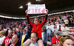 SOUTHAMPTON, ENGLAND - MAY 12: a young fan hold a sign for Shane Long during the lap of honor for the Premier League match between Southampton FC and Huddersfield Town at St Mary's Stadium on May 12, 2019 in Southampton, United Kingdom. (Photo by James Bridle - Southampton FC/Southampton FC via Getty Images)