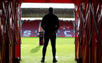 SOUTHAMPTON, ENGLAND - MAY 13: Radhi Jaidi of Southampton FC ahead stands in the tunnel ahead of the U23s PL2 Play off final between Southampton and Newcastle United pictured at St. Mary's Stadium on May 13, 2019 in Southampton, England. (Photo by James Bridle - Southampton FC/Southampton FC via Getty Images)