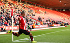 SOUTHAMPTON, ENGLAND - MAY 13: Tyreke Johnson of Southampton takes a corner during the U23s PL2 Play off final between Southampton and Newcastle United pictured at St. Mary's Stadium on May 13, 2019 in Southampton, England. (Photo by James Bridle - Southampton FC/Southampton FC via Getty Images)