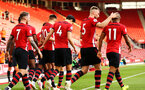 SOUTHAMPTON, ENGLAND - MAY 13: Southampton FC players celebrate after Dan Nlundulu scores during the U23s PL2 Play off final between Southampton and Newcastle United pictured at St. Mary's Stadium on May 13, 2019 in Southampton, England. (Photo by James Bridle - Southampton FC/Southampton FC via Getty Images)
