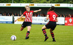 SOUTHAMPTON, ENGLAND - MAY 19: Phoebe Williams scores (left) during the Womens Cup Final match between Southampton FC and Oxford pictured at AFC Totten on May 19, 2019 in Southampton, England. (Photo by James Bridle - Southampton FC/Southampton FC via Getty Images)