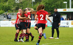 SOUTHAMPTON, ENGLAND - MAY 19: Players celebrates after Pheobe Williams scores during the Womens Cup Final match between Southampton FC and Oxford pictured at AFC Totten on May 19, 2019 in Southampton, England. (Photo by James Bridle - Southampton FC/Southampton FC via Getty Images)