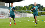 SOUTHAMPTON, ENGLAND - JULY 01: LtoR Harrison Reed, Jordy Clasie during pre season testing pictured at Staplewood Complex on July 01, 2019 in Southampton, England. (Photo by James Bridle - Southampton FC/Southampton FC via Getty Images)