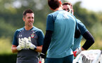 SOUTHAMPTON, ENGLAND - JULY 03: Goalkeeper Coach Andrew Sparks during a Southampton FC pre-season training session at the Staplewood Campus on July 03, 2019 in Southampton, England. (Photo by Matt Watson/Southampton FC via Getty Images)