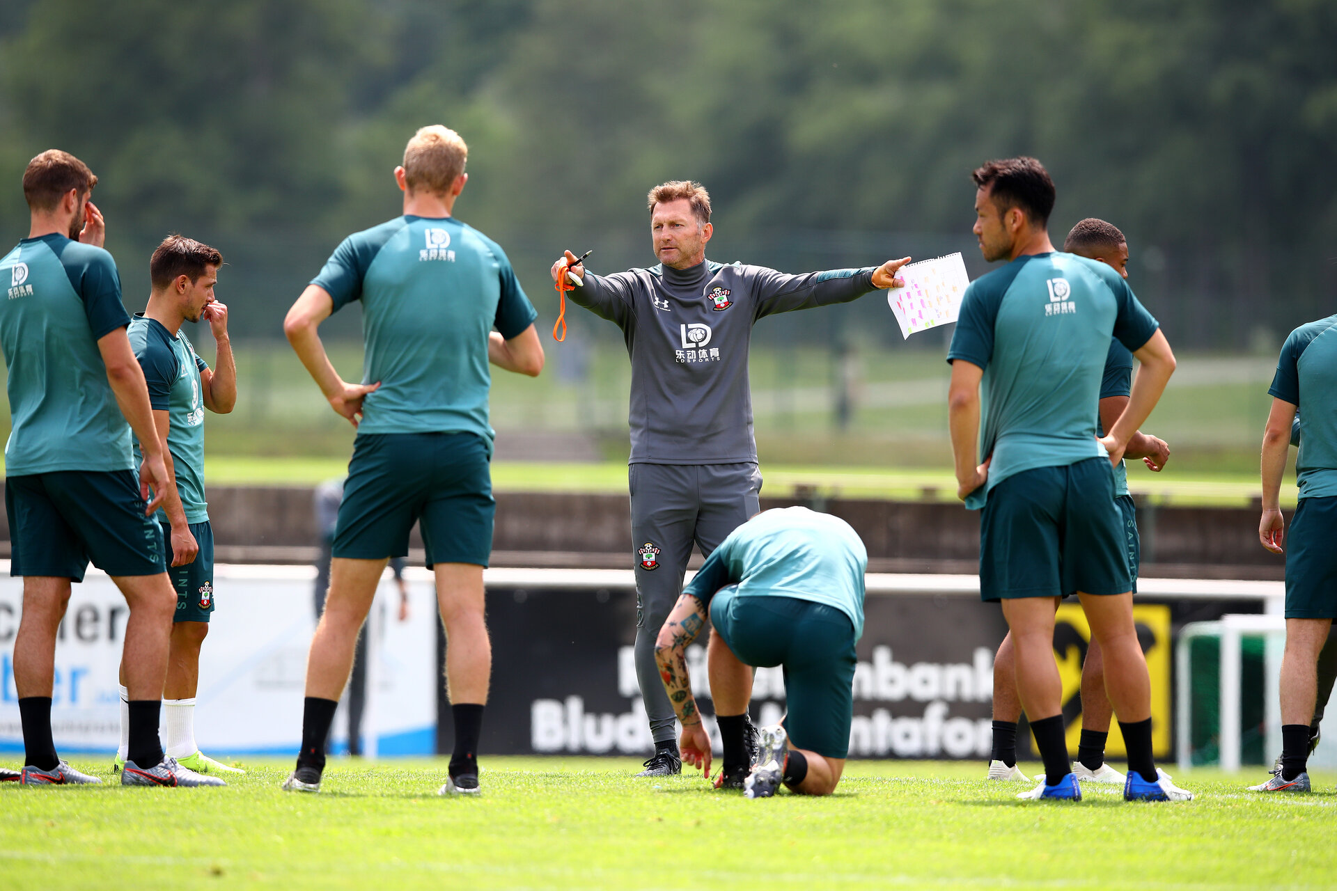 SCHRUNS, AUSTRIA - JULY 09: Ralph Hasenhuttl during a Southampton FC pre-season training session, on July 09, 2019 in Schruns, Austria. (Photo by Matt Watson/Southampton FC via Getty Images)