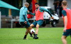 SCHRUNS, AUSTRIA - JULY 12: Oriol Romeu(L) and Wesley Hoedt during a Southampton FC pre season training session on July 12, 2019 in Schruns, Austria. (Photo by Matt Watson/Southampton FC via Getty Images)