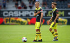 ALTACH, AUSTRIA - JULY 14: James Ward-Prowse(L) and Jake Vokins of Southampton during the pre-season friendly match between SCR Altach and Southampton FC at The Cashpoint Arena on July 14, 2019 in Altach, Austria. (Photo by Matt Watson/Southampton FC via Getty Images)