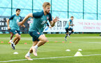 SOUTHAMPTON, ENGLAND - JULY 16: Stuart Armstrong during a Southampton FC  training session at Staplewood Complex on July 16, 2019 in Southampton, England. (Photo by James Bridle - Southampton FC/Southampton FC via Getty Images)