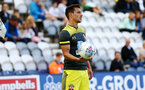 PRESTON, ENGLAND - JULY 20: Cedric looks on during the pre-season friendly game between Preston North End and Southampton FC pictured at Deepdale on July 20, 2019 in Preston, England. (Photo by James Bridle - Southampton FC/Southampton FC via Getty Images)