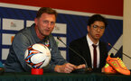 Ralph Hasenhuttl during a Southampton FC press conference while on their Pre Season trip to Macau, China, 22nd July 2019