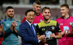 MACAU, MACAU - JULY 23: Jake Vokins is named Man Of The Match during the pre-season friendly match between Guangzhou R&F and Southampton, on July 23, 2019 at the Estadio Campo Desportivo in Macau, Macau. (Photo by Matt Watson/Southampton FC via Getty Images)