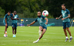DUBLIN, ENGLAND - JULY 24: Nathan Redmond (middle)  during a Southampton FC training session pictured at Carton House Spa and Resort for Pre-Season Training on July 24, 2019 in Southampton, England. (Photo by James Bridle - Southampton FC/Southampton FC via Getty Images)