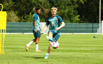 DUBLIN, ENGLAND - JULY 27: Josh Sims (middle)  during a Southampton FC Training session pictured at Carton House Spa and Resort for Pre-Season Training on July 27, 2019 in Southampton, England. (Photo by James Bridle - Southampton FC/Southampton FC via Getty Images)
