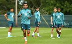DUBLIN, ENGLAND - JULY 27: Sofiane Boufal  (left) during a Southampton FC Training session pictured at Carton House Spa and Resort for Pre-Season Training on July 27, 2019 in Southampton, England. (Photo by James Bridle - Southampton FC/Southampton FC via Getty Images)