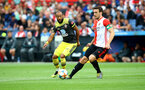 ROTTERDAM, NETHERLANDS - JULY 28: Nathan Redmond(L) of Southampton during the pre season friendly match between Feyenoord and Southampton FC at De Kuip on July 28, 2019 in Rotterdam, Netherlands. (Photo by Matt Watson/Southampton FC via Getty Images)