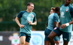 SOUTHAMPTON, ENGLAND - JULY 31: Pierre-Emile Hojbjerg during a Southampton FC training session at the Staplewood Campus on July 31, 2019 in Southampton, England. (Photo by Matt Watson/Southampton FC via Getty Images)