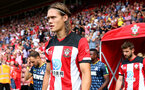 SOUTHAMPTON, ENGLAND - AUGUST 03: Jannik Vestergaard of Southampton during the Pre-Season Friendly match between Southampton FC and FC Köln at St. Mary's Stadium on August 03, 2019 in Southampton, England. (Photo by Matt Watson/Southampton FC via Getty Images,)