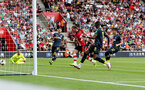 SOUTHAMPTON, ENGLAND - AUGUST 03: Pierre-Emile Hojbjerg of Southampton scores during the Pre-Season Friendly match between Southampton FC and FC Köln at St. Mary's Stadium on August 03, 2019 in Southampton, England. (Photo by Matt Watson/Southampton FC via Getty Images,)