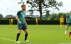 SOUTHAMPTON, ENGLAND - AUGUST 08: Jake Vokins  (left) during a first team training session pictured at Staplewood Training Ground on August 06, 2019 in Southampton, England. (Photo by James Bridle - Southampton FC/Southampton FC via Getty Images)