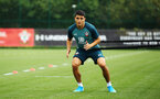 SOUTHAMPTON, ENGLAND - AUGUST 08: Mohamed Elyounoussi during a first team training session pictured at Staplewood Training Ground on August 06, 2019 in Southampton, England. (Photo by James Bridle - Southampton FC/Southampton FC via Getty Images)