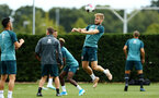 SOUTHAMPTON, ENGLAND - AUGUST 07: Stuart Armstrong (right) during a Southampton FC training session pictured at Staplewood Training Ground on August 07, 2019 in Southampton, England. (Photo by James Bridle - Southampton FC/Southampton FC via Getty Images)