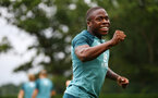 SOUTHAMPTON, ENGLAND - AUGUST 08: Michael Obafemi during a Southampton FC Training Session pictured at Staplewood Training Ground on August 08, 2019 in Southampton, England. (Photo by James Bridle - Southampton FC/Southampton FC via Getty Images)