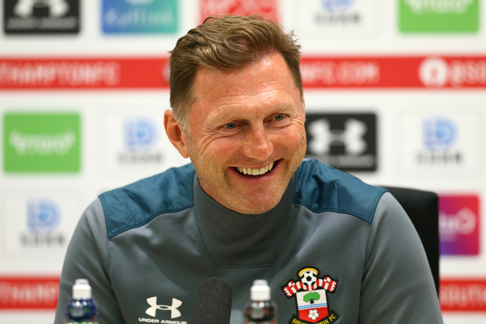 SOUTHAMPTON, ENGLAND - AUGUST 08: Ralph Hasenhuttl during a Southampton FC Press conference pictured at Staplewood Complex on August 08, 2019 in Southampton, England. (Photo by James Bridle - Southampton FC/Southampton FC via Getty Images) (Photo by James Bridle - Southampton FC/Southampton FC via Getty Images)