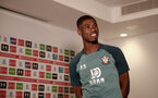SOUTHAMPTON, ENGLAND - AUGUST 11: Southampton FC's latest signing Kevin Danso during his first day at the Staplewood Campus on August 11, 2019 in Southampton, England. (Photo by Matt Watson/Southampton FC via Getty Images)