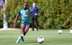SOUTHAMPTON, ENGLAND - AUGUST 15: Michael Obafemi  during a Southampton FC Training session pictured on August 15, 2019 in Southampton, England. (Photo by James Bridle - Southampton FC/Southampton FC via Getty Images)