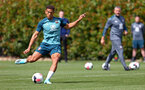SOUTHAMPTON, ENGLAND - AUGUST 15: Che Adams during a Southampton FC Training session pictured on August 15, 2019 in Southampton, England. (Photo by James Bridle - Southampton FC/Southampton FC via Getty Images)
