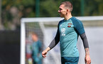 SOUTHAMPTON, ENGLAND - AUGUST 15: Pierre-Emile Hojbjerg during a Southampton FC Training session pictured on August 15, 2019 in Southampton, England. (Photo by James Bridle - Southampton FC/Southampton FC via Getty Images)