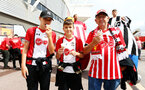 SOUTHAMPTON, ENGLAND - AUGUST 17: Fans and fan entertainment head of the Premier League match between Southampton FC and Liverpool FC at St Mary's Stadium on August 17, 2019 in Southampton, United Kingdom. (Photo by James Bridle - Southampton FC/Southampton FC via Getty Images)