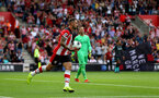 SOUTHAMPTON, ENGLAND - AUGUST 17: Danny Ings of Southampton after scoring during the Premier League match between Southampton FC and Liverpool FC at St Mary's Stadium on August 17, 2019 in Southampton, United Kingdom. (Photo by Matt Watson/Southampton FC via Getty Images)