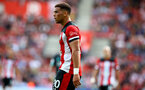 SOUTHAMPTON, ENGLAND - AUGUST 17: Ché Adams of Southampton during the Premier League match between Southampton FC and Liverpool FC at St Mary's Stadium on August 17, 2019 in Southampton, United Kingdom. (Photo by Matt Watson/Southampton FC via Getty Images)