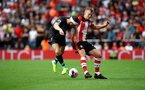 SOUTHAMPTON, ENGLAND - AUGUST 17: James Milner(L) of Liverpool and James Ward-Prowse(R) of Southampton during the Premier League match between Southampton FC and Liverpool FC at St Mary's Stadium on August 17, 2019 in Southampton, United Kingdom. (Photo by Matt Watson/Southampton FC via Getty Images)