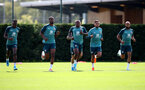 SOUTHAMPTON, ENGLAND - AUGUST 20: Players running during a Southampton FC training session at the Staplewood Campus on August 20, 2019 in Southampton, England. (Photo by Matt Watson/Southampton FC via Getty Images)