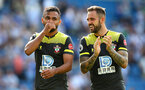 BRIGHTON, ENGLAND - AUGUST 24: Sofiane Boufal(L) and Danny Ings of Southampton during the Premier League match between Brighton & Hove Albion and Southampton FC at American Express Community Stadium on August 24, 2019 in Brighton, United Kingdom. (Photo by Matt Watson/Southampton FC via Getty Images)