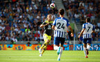 BRIGHTON, ENGLAND - AUGUST 24: Jannik Vestergaard of Southampton during the Premier League match between Brighton & Hove Albion and Southampton FC at American Express Community Stadium on August 24, 2019 in Brighton, United Kingdom. (Photo by Matt Watson/Southampton FC via Getty Images)