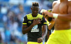 BRIGHTON, ENGLAND - AUGUST 24: Moussa Djenepo of Southampton during the Premier League match between Brighton & Hove Albion and Southampton FC at American Express Community Stadium on August 24, 2019 in Brighton, United Kingdom. (Photo by Matt Watson/Southampton FC via Getty Images)