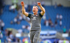 BRIGHTON, ENGLAND - AUGUST 24: Ralph Hasenhuttl celebrates during the Premier League match between Brighton & Hove Albion and Southampton FC at American Express Community Stadium on August 24, 2019 in Brighton, United Kingdom. (Photo by Matt Watson/Southampton FC via Getty Images)