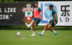 SOUTHAMPTON, ENGLAND, AUGUST 28, Jack Stephens during a Southampton FC training session at the Staplewood Campus, Southampton