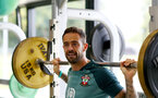 SOUTHAMPTON, ENGLAND, AUGUST 28, Danny Ings during a Southampton FC training session at the Staplewood Campus, Southampton