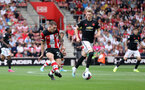SOUTHAMPTON, ENGLAND - AUGUST 31: Pierre-Emile Hojbjerg during the Premier League match between Southampton FC and Manchester United at St Mary's Stadium on August 31, 2019 in Southampton, United Kingdom. (Photo by Chris Moorhouse/Southampton FC via Getty Images)
