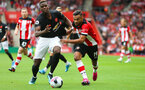31st August 2019, St Marys Stadium, Saints against Manchester United, Sofiane Boufal run down the line
