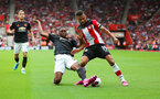 31st August 2019, St Marys Stadium, Saints against Manchester United, Sofiane Boufal cross