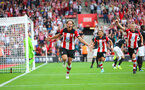 31st August 2019, St Marys Stadium, Saints against Manchester United, Jannik Vestergaard goal celebration